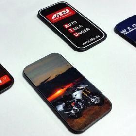 Uchwyt na telefon komórkowy - referencje - Držák mobilního telefonu - díl s polepem