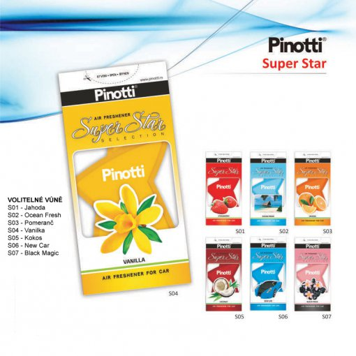 Zelowy odświeżacz powietrza Pinotti Super Star