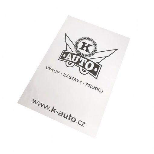 Papierowy dywanik ochronny do samochodu K-auto